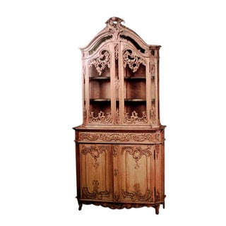 French Louis XV Style '19th Century' Stripped Breakfront For Sale