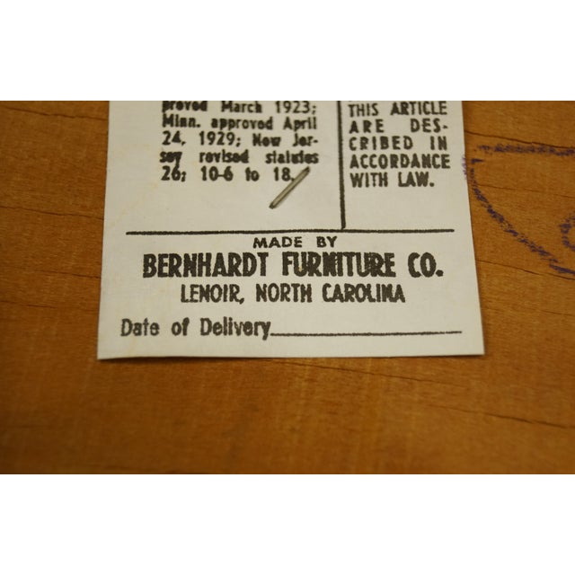 Late 20th Century Vintage Bernhardt Furniture French Provincial Cane Back Dining Arm Chair For Sale - Image 9 of 11