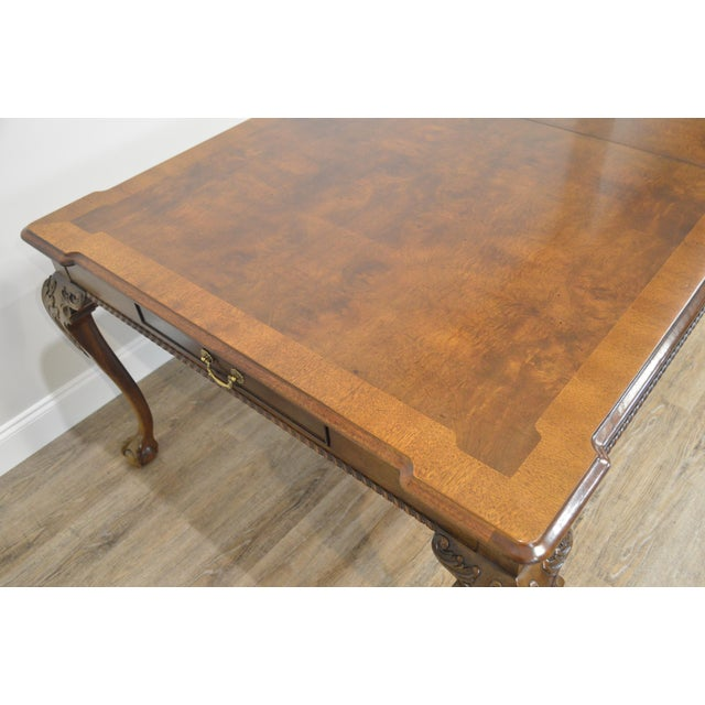 Henredon Rittenhouse Square Collection Mahogany Chippendale Ball & Claw Banded Dining Table For Sale - Image 12 of 13