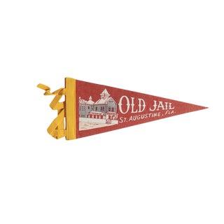 Vintage Old Jail St. Augustine, Fla. Felt Flag Pennant For Sale