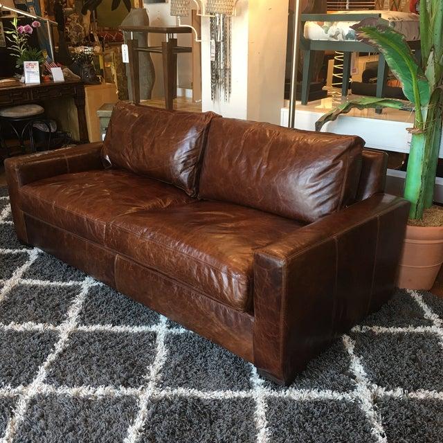 Maxwell Leather Sofa: Restoration Hardware Petite Maxwell Leather Sofa