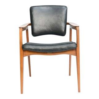Vintage Sigvard Bernadotte for France & Daverkosen Danish Modern Teak Lounge Armchair For Sale
