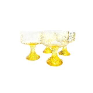 Vintage Mid-Century Impromptu Lenox Footed Crystal Wine Goblets - Set of 4 For Sale