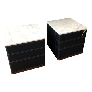 Set of 2 Poltrano Frau Fidelio Notte Nightstands by Roberto Lazzeroni For Sale