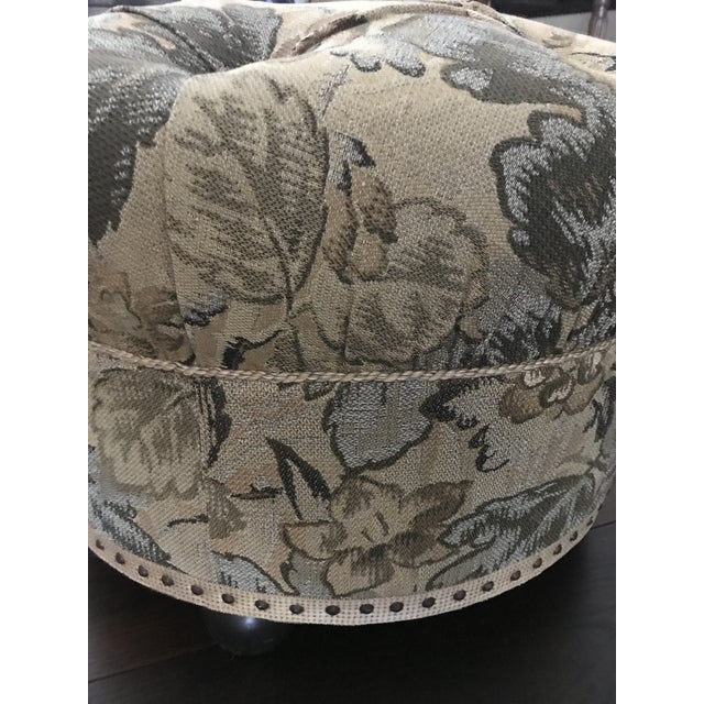 Vintage Fabric Upholstered Foot Stool/Ottoman For Sale - Image 11 of 13