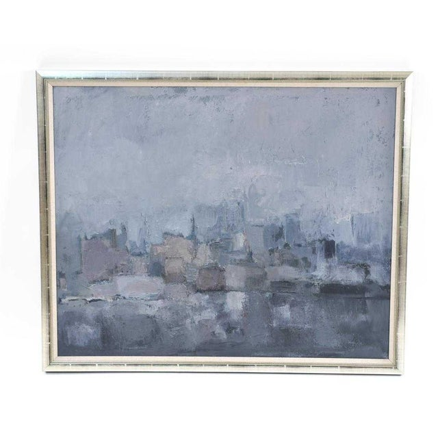 1980s Vintage Moody Painting Attributed to Spanish Artist Gloria Saez For Sale - Image 10 of 10