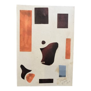 1959 Mid-Century Modern Collage by Phyllis Myrick For Sale