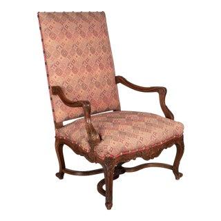 19th Century Regence Style Fauteuil a La Reine For Sale