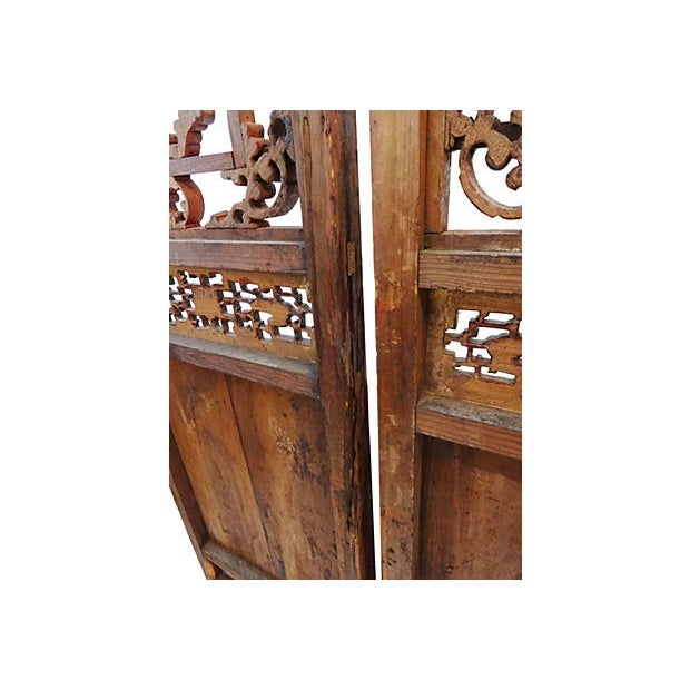 Antique Chinese Doors - A Pair - Image 6 of 8