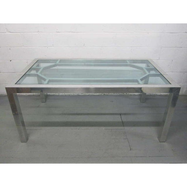 Decorative Aluminium Table or Desk For Sale - Image 9 of 9