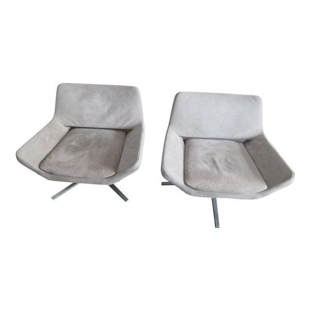 "Jeffrey Bernett for B&B Italia ""Metropolitan"" Armchairs - Set of 2 For Sale"