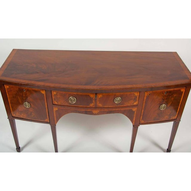 Fine George III Mahogany and Satinwood Inlaid Sideboard For Sale - Image 4 of 10