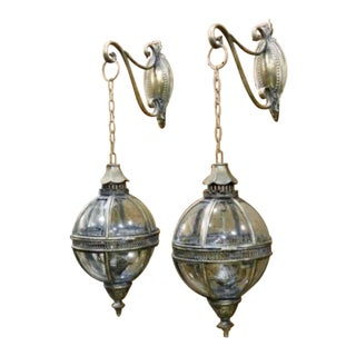 Vintage Venetian Lantern Globes - a Pair For Sale