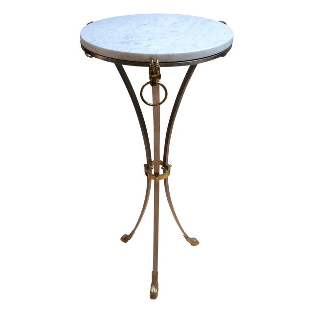 Hollywood Regency Marble & Brass Console Table - Image 1 of 8