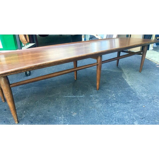 Bassett Vintage Bassett Walnut Surfboard Coffee Table For Sale - Image 4 of 8