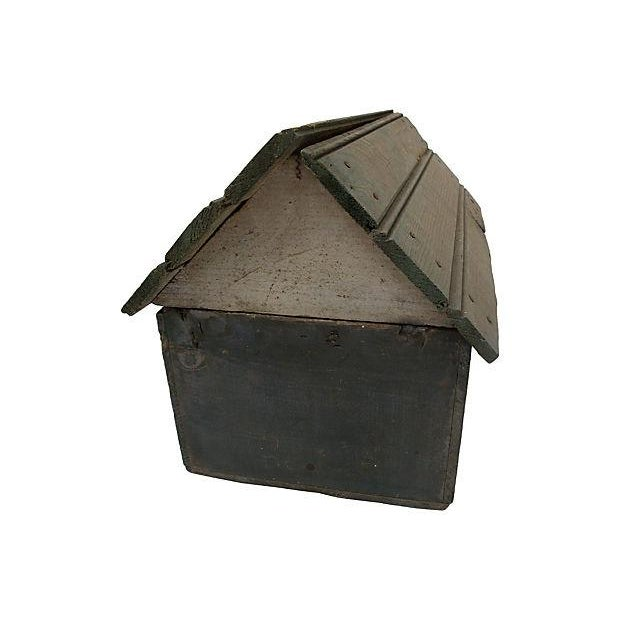Americana Vintage Handmade Folk Art Birdhouse For Sale - Image 3 of 5