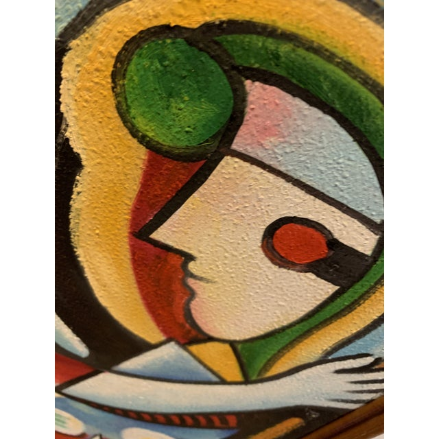 Girl Before a Mirror Painting - Interpretation Copy Signed by Artist Mark L For Sale In Tampa - Image 6 of 8
