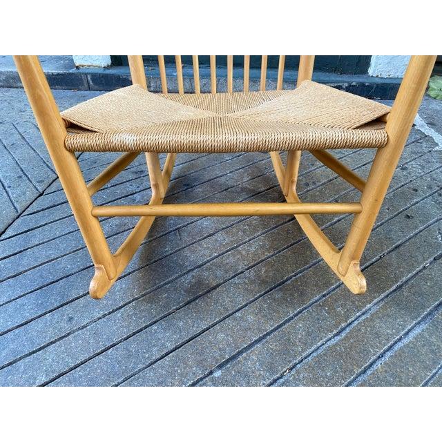 1960s Vintage Hans Wegner Rocking Chair Model J16 For Sale - Image 10 of 12