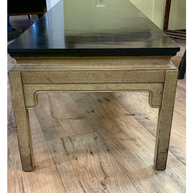 Asian Mid Century Asian Style Bench, Coffee Table For Sale - Image 3 of 6
