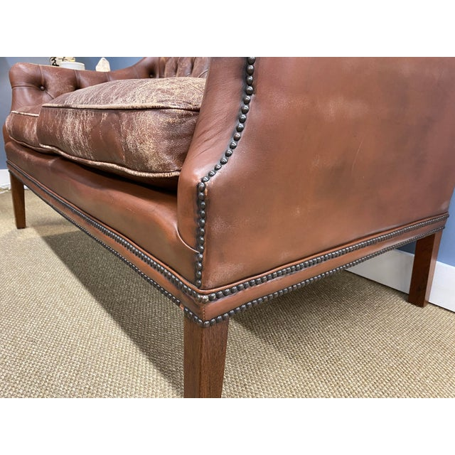1960s Vintage 1960s Leather Sofa For Sale - Image 5 of 11