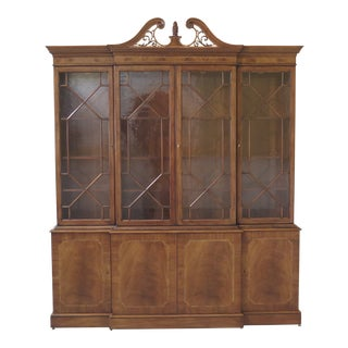 Karges English Style Large Mahogany Breakfront For Sale