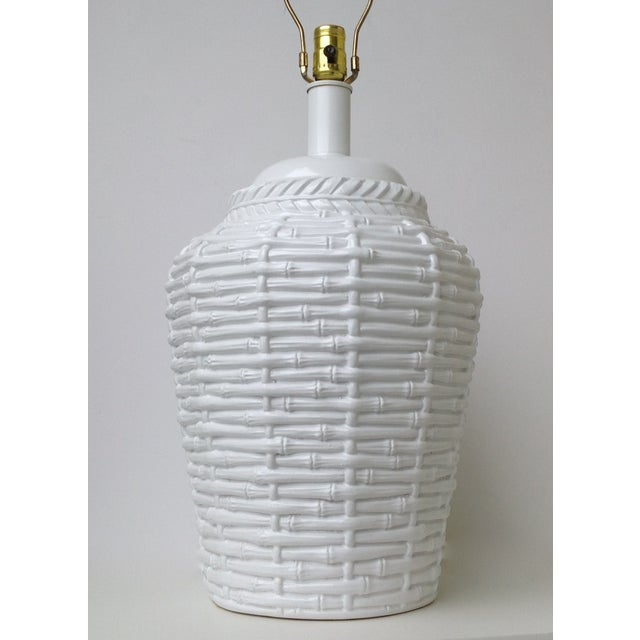 Faux Bamboo Large Bulbous Lamp - Image 3 of 10