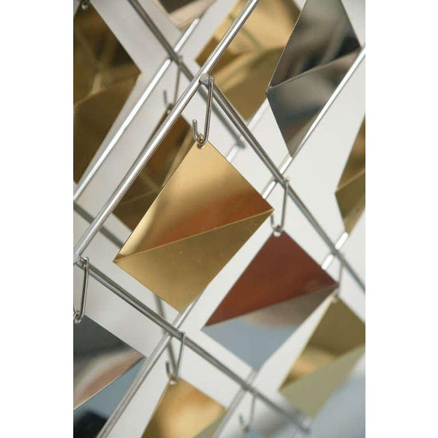 Late 20th Century Brass and Chrome Sculpture by Curtis Jere For Sale - Image 5 of 11