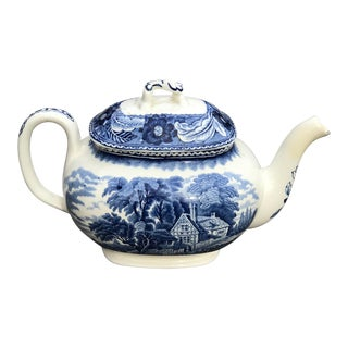 Antique Wood & Son English Porcelain Teapot