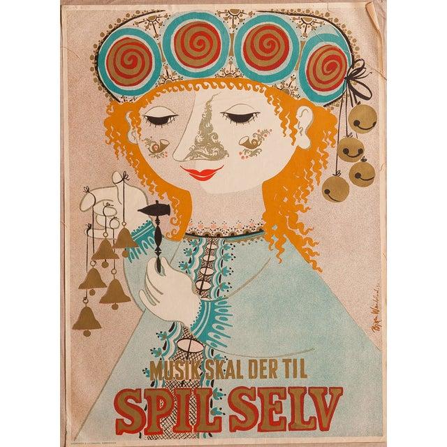 Vintage Modernist Art Poster by Bjorn Wiinblad - Image 1 of 4