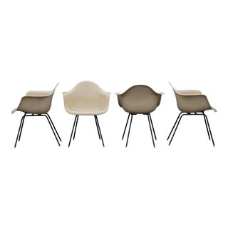 Charles & Ray Eames Herman Miller Fiberglass Armshell Chairs - Set of 4
