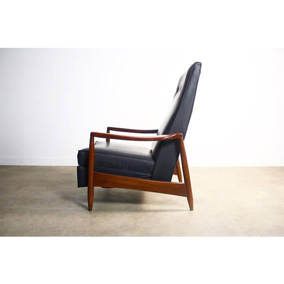 Milo Baughman Highback Recliner Chair For Sale - Image 5 of 7
