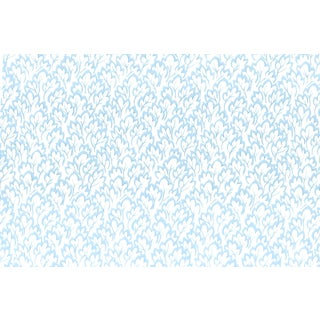 Vintage Bassett McNab Blue Leafmate Wallpaper - 10 Yard Roll For Sale