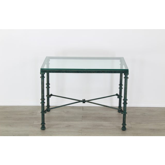Diego Giacometti Style Iron Side Table, Metal Side Table For Sale In Miami - Image 6 of 7