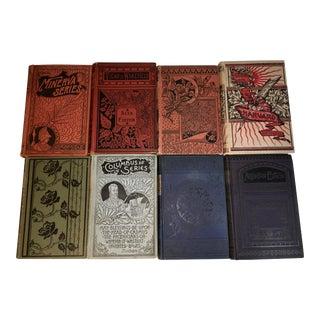 Antique Decorative Victorian Books - Set of 8