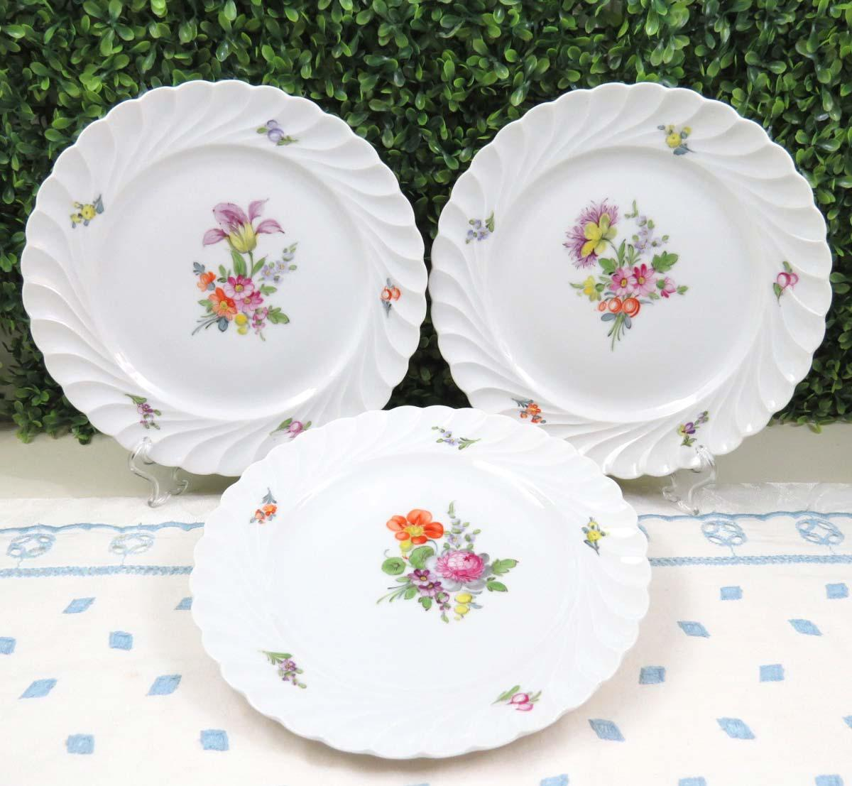 Vintage Nymphenburg Dresden Flowers Salad Plates - Set of 3 - Image 8 of 9  sc 1 st  Chairish & Vintage Nymphenburg Dresden Flowers Salad Plates - Set of 3 | Chairish