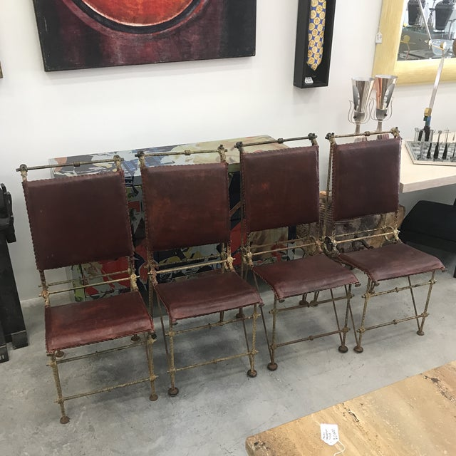 1980s Ilana Goor Dining Chairs - Set of 4 For Sale - Image 13 of 13