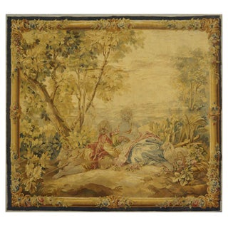 Antique Handmade Wool Tapestry For Sale