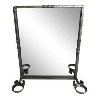 Antique Iron Shaving Mirror