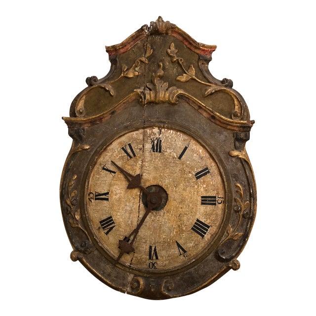 18th Century Italian Wall Clock | Chairish
