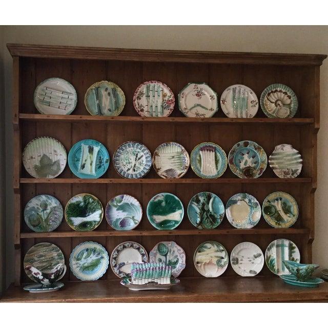 Ceramic 1900s Vintage Majolica Asparagus Plate For Sale - Image 7 of 9