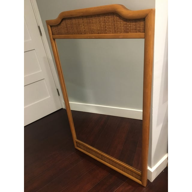 French Indochine Style Mid Century Pier / Console Mirror (4 Ft) For Sale In Los Angeles - Image 6 of 12