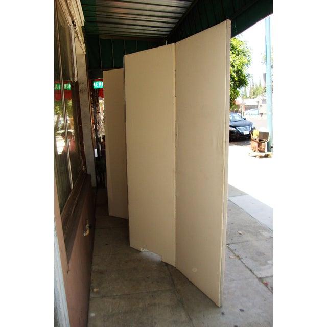 Off-white Modern Patterned Room Divider For Sale - Image 8 of 12