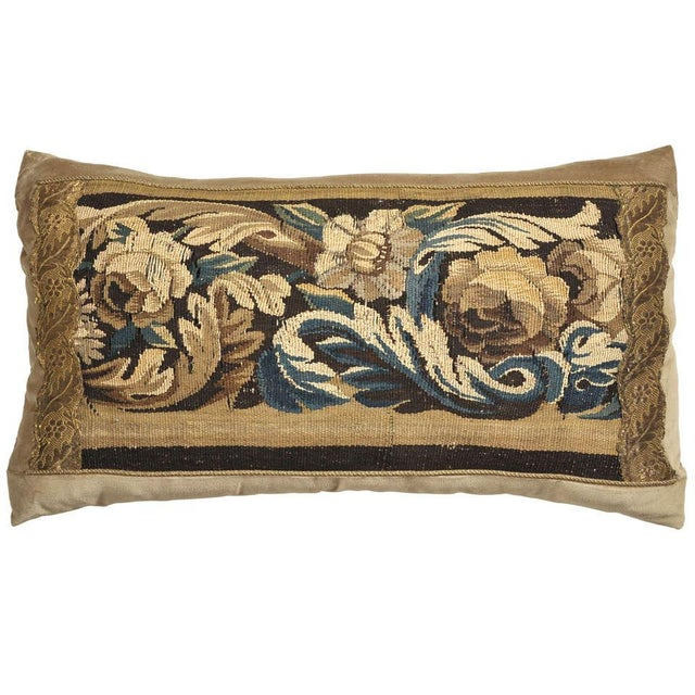Silk 19th Century Tapestry Pillow For Sale - Image 7 of 7