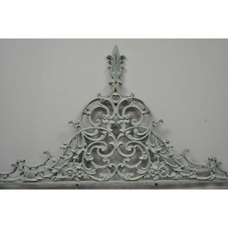 20th Century Louis XV Gray Cast Metal Full Size Bed Headboard Preview