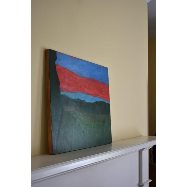 "Blue 2010s Abstract Painting, ""Sunset over Fields"" by Stephen Remick For Sale - Image 8 of 10"