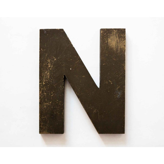 Industrial Letter N Wall Decor For Sale - Image 4 of 4