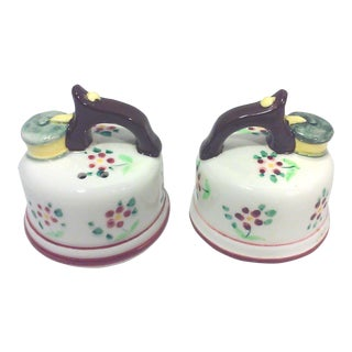 Japanese Ceramic Salt and Pepper Shakers - A Pair For Sale