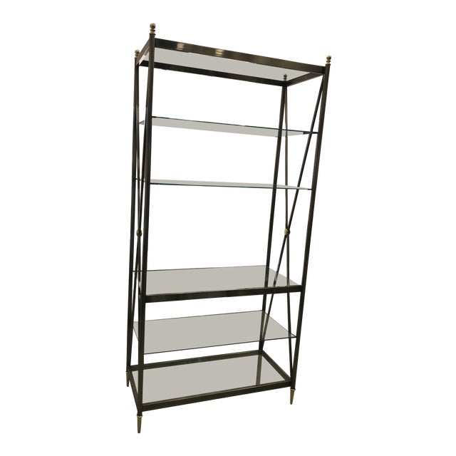 Dia Etagere with Glass Shelves For Sale