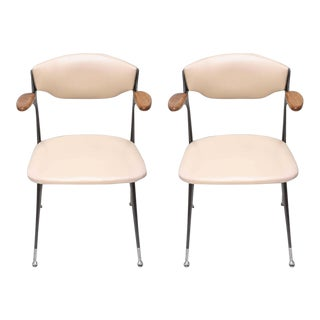1950s Shelby Williams Gazelle Arm Chairs - a Pair For Sale