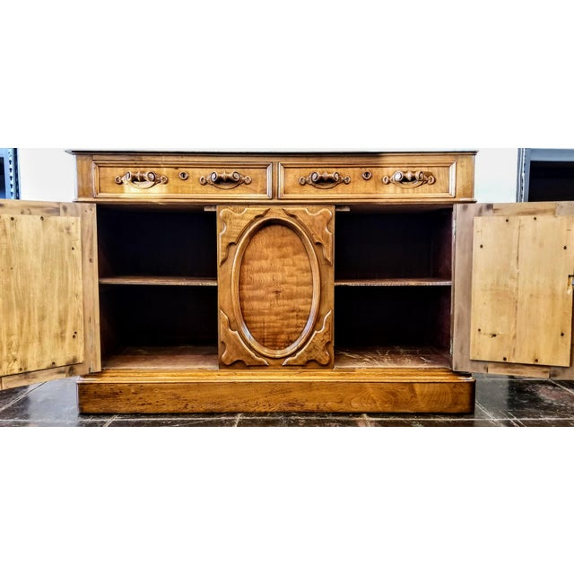 American Victorian Gothic / Renaissance Revival Italian Marble Del Duomo Topped Sideboard For Sale - Image 9 of 13